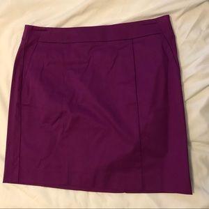 NWT Ann Taylor Madison skirt purple 10p petite